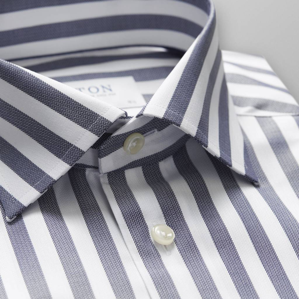 Eton Blue white wide stripe