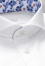 Eton Slim fit White Twill Shirt with Floral detail