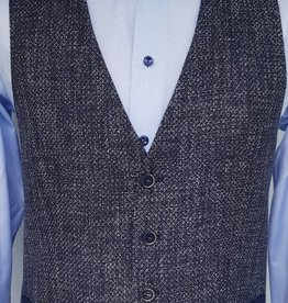 Roy Robson Blue Pique waistcoat with trim