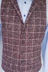 Roy Robson Burnt Red Check waistcoat