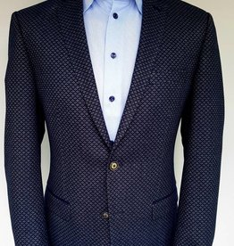 Roy Robson Blue Geometric Print with trim - Slim fit