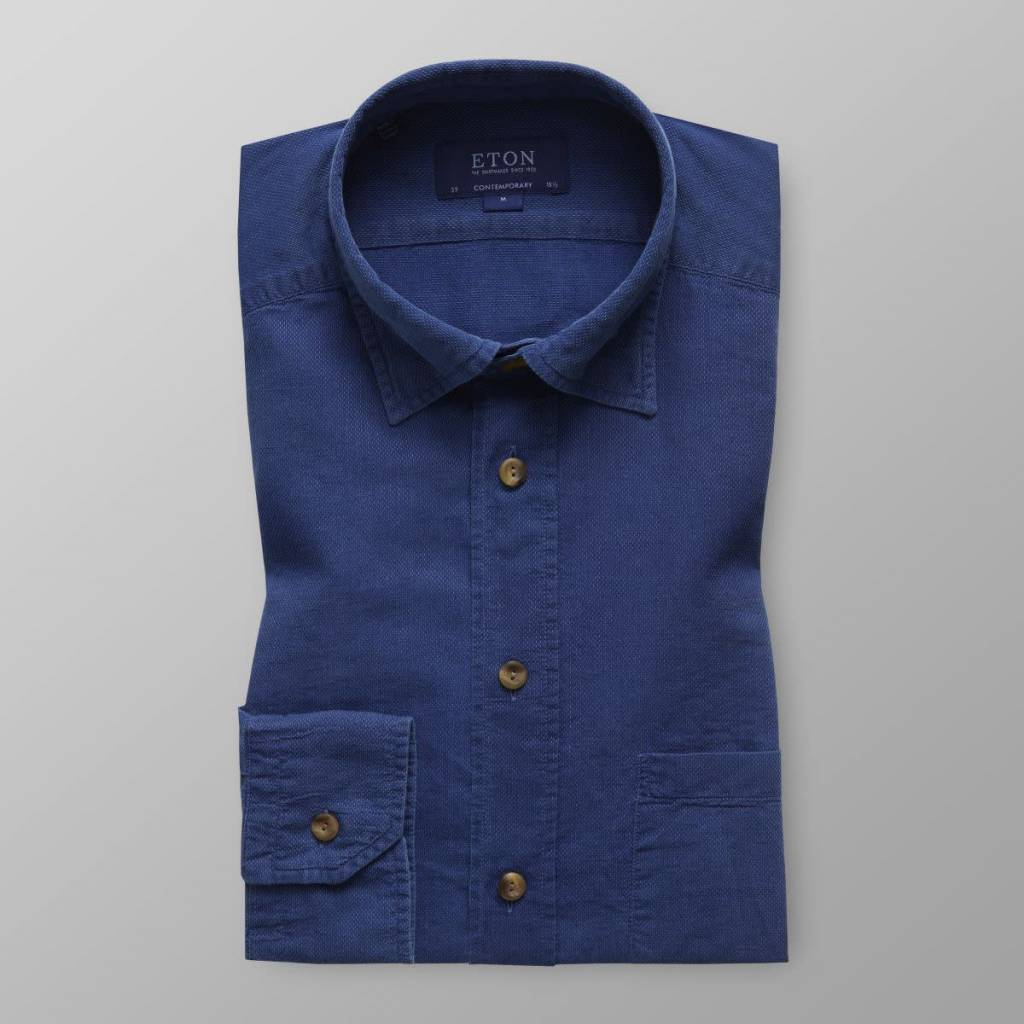 Eton Blue Indigo Shirt