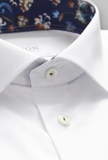 Eton White Stretch Shirt with floral Trim - contemporary