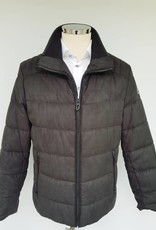 Bugatti Charcoal Brushed Checked Outdoor Jacket
