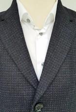 Remus Uomo Navy coat with geometric print