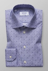 Eton Woven poplin with perched bird print