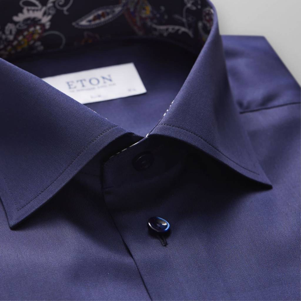 Eton Signature Twill with paisley trim