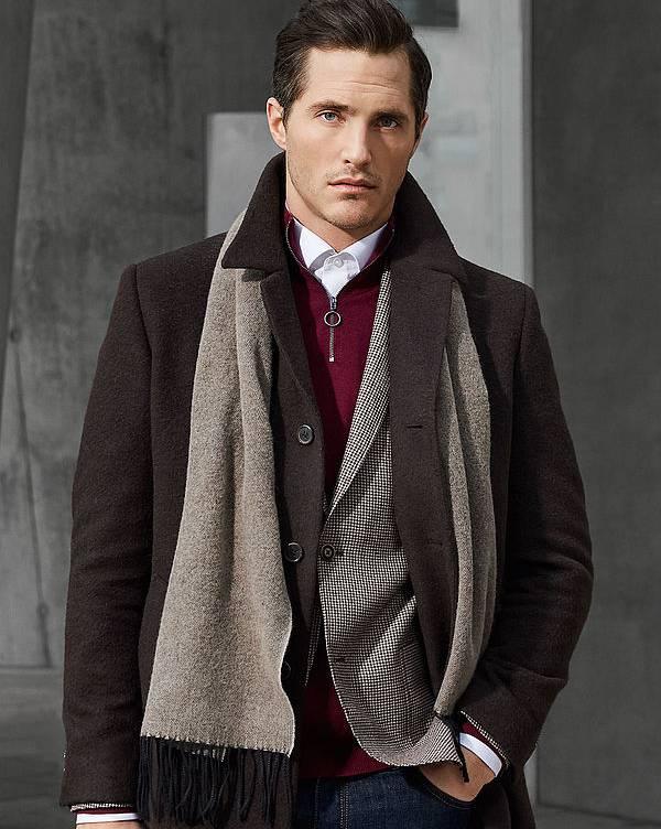 Roy Robson Wool Slim brown coat