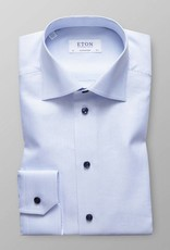 Eton Blue Textured twill with Navy Button