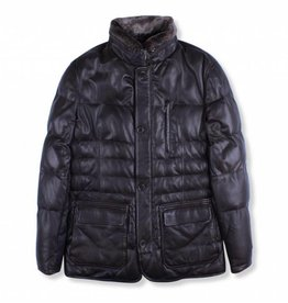 Torras Quilted lambskin Leather Coat