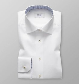 Eton White twill with subtle paisley