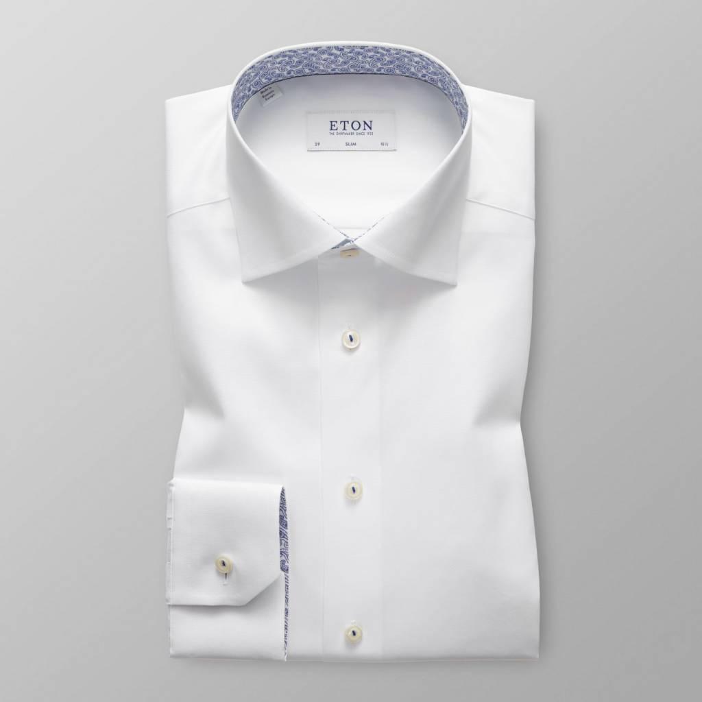 Eton White twill with subtle paisley