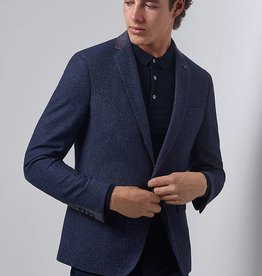 Remus Uomo Remus blue with grey suede collar