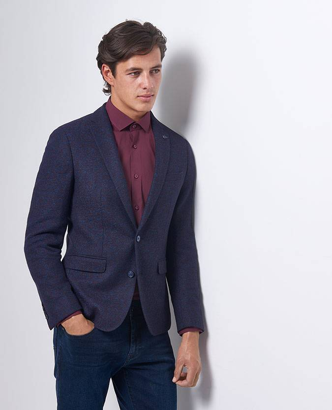 Remus Uomo blue red diamond jacket