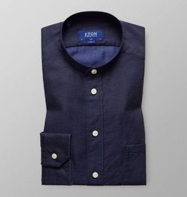 Eton Textured Chambray with Nehru collar