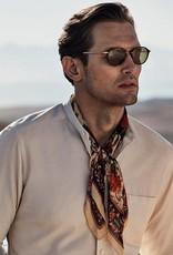 Eton Textured Chambray with Nehru collar