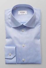 Eton Signature Twill with embroidery detail