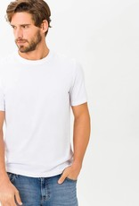 Brax Mercerised white cotton t-shirt