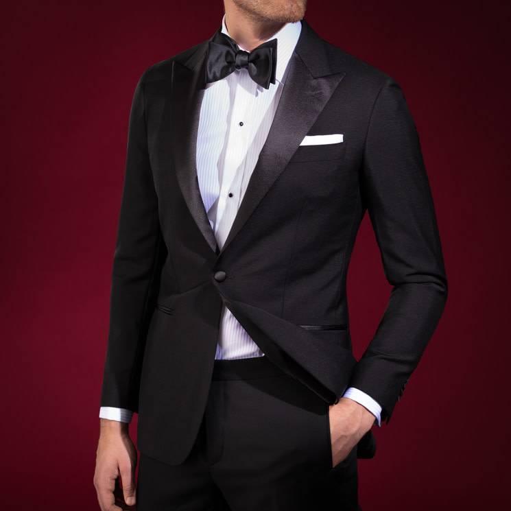 Eton Satin Silk Bow Tie - Self Tie