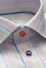 Eton Multi coloured stripe and button
