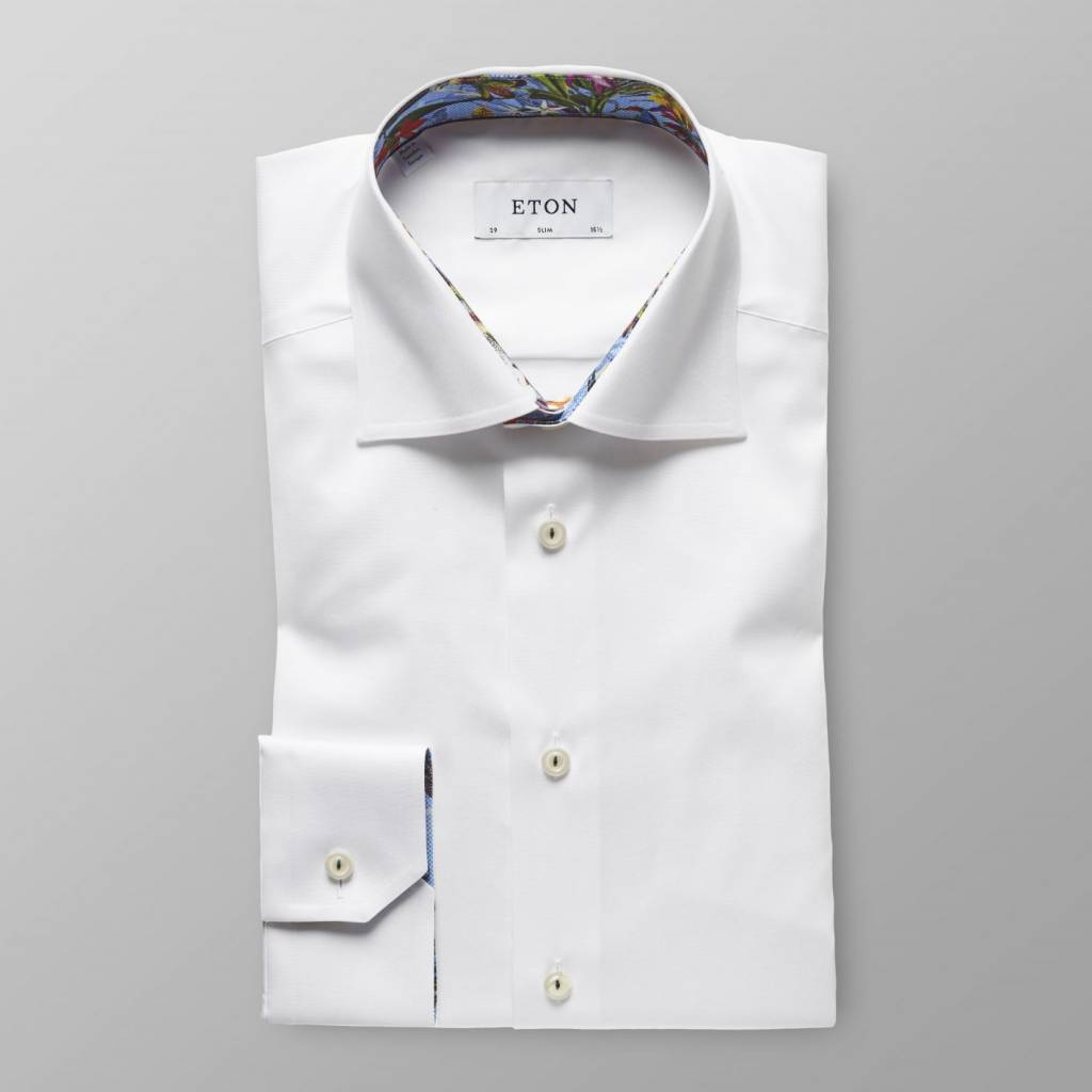 Eton Signature Twill with tropical trim