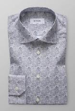 Eton Poplin with swirled Paisley print