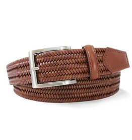 Robert Charles Woven Leather Elastic Belt