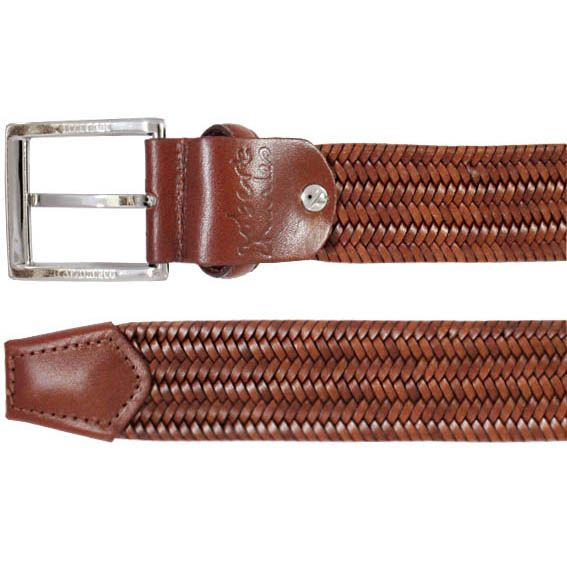 Robert Charles Woven Leather Stretch Belt