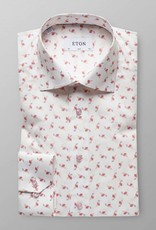 Eton Pink Flamingo Twill with pink button