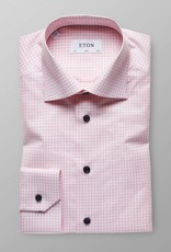 Eton Gingham check poplin with Navy button