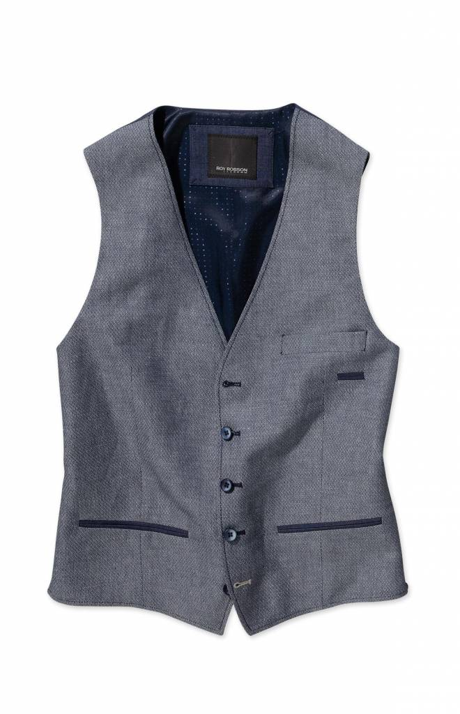 Roy Robson Light Blue Waistcoat with trim