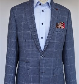 Roy Robson Sky Blue Slim Fit Cotton Check - Ticket pocket
