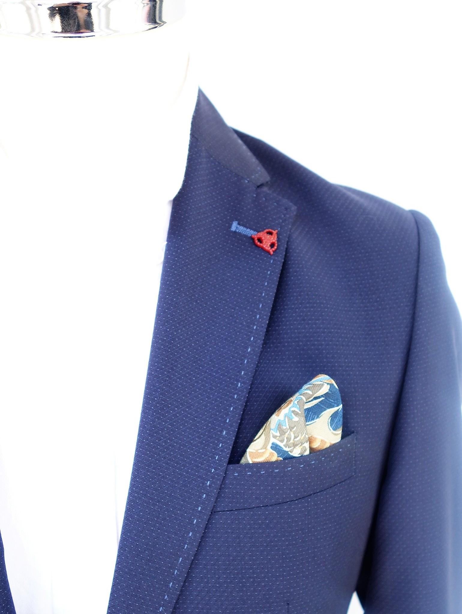 Roy Robson Modern patch pocket navy blazer