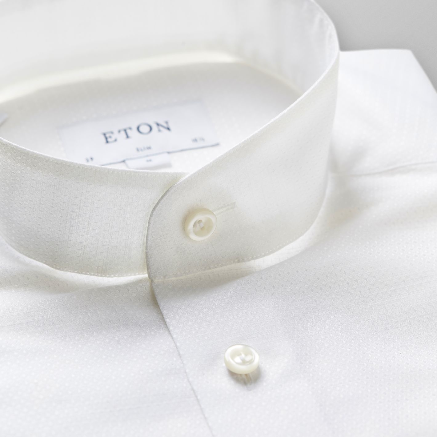 Eton Mandarin Collar with diamond print