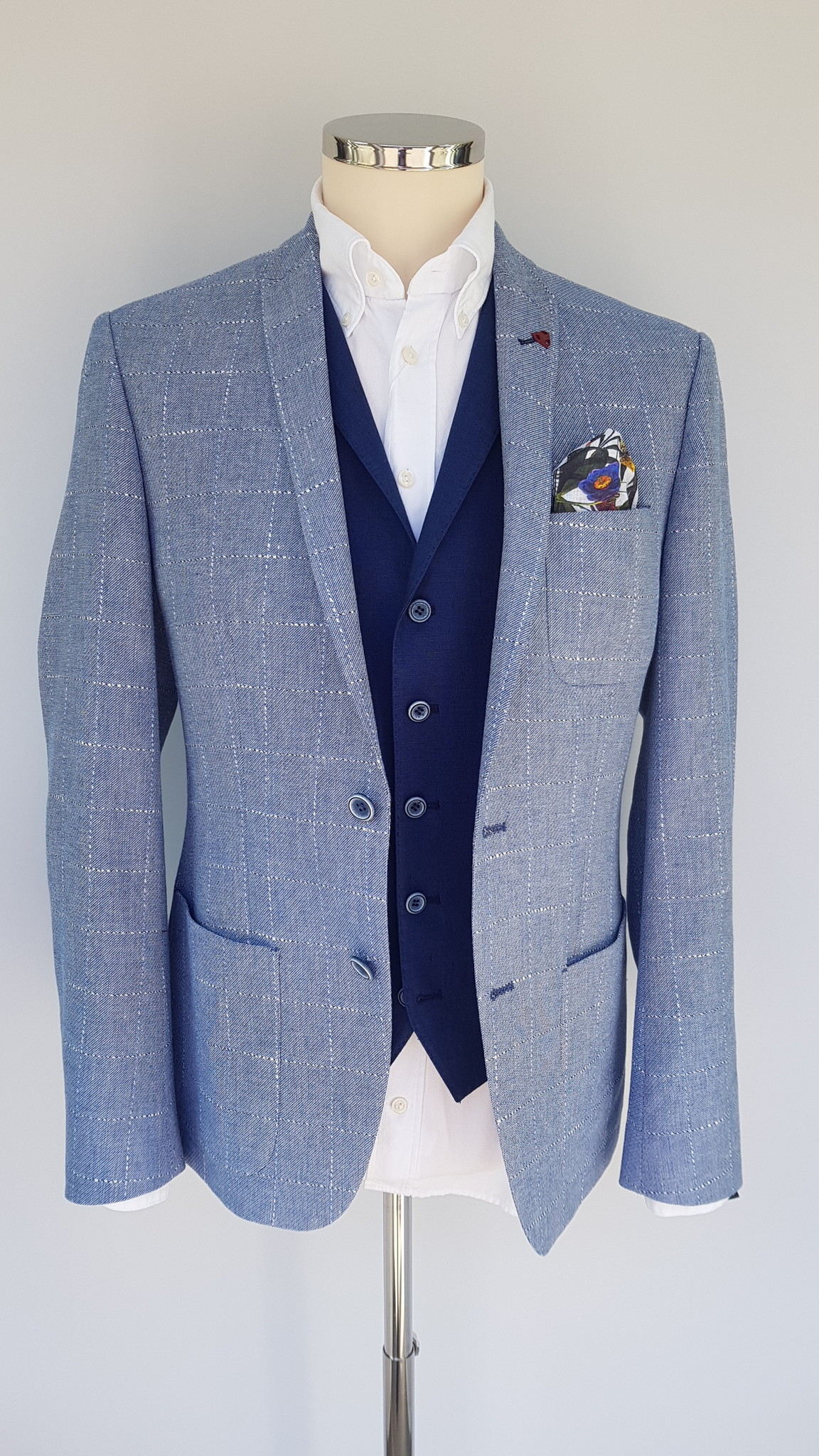 Roy Robson Slim Fit Cotton/Linen patch pocket Jacket