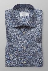 Eton Blue Floral Poplin