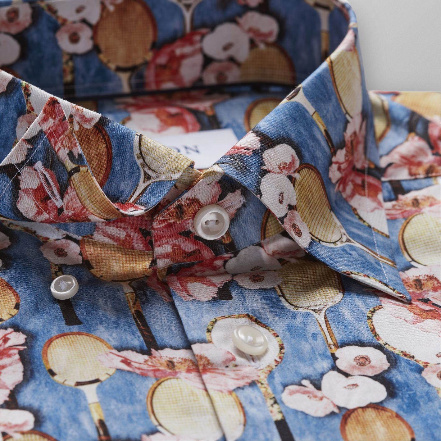 Eton Tennis Racket Flower print Poplin