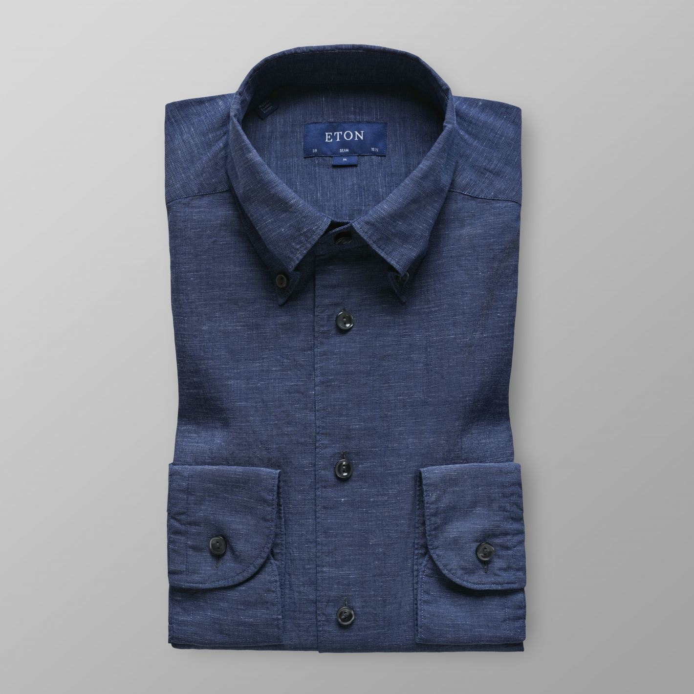 Eton Cotton/Linen Indigo dyed shirt