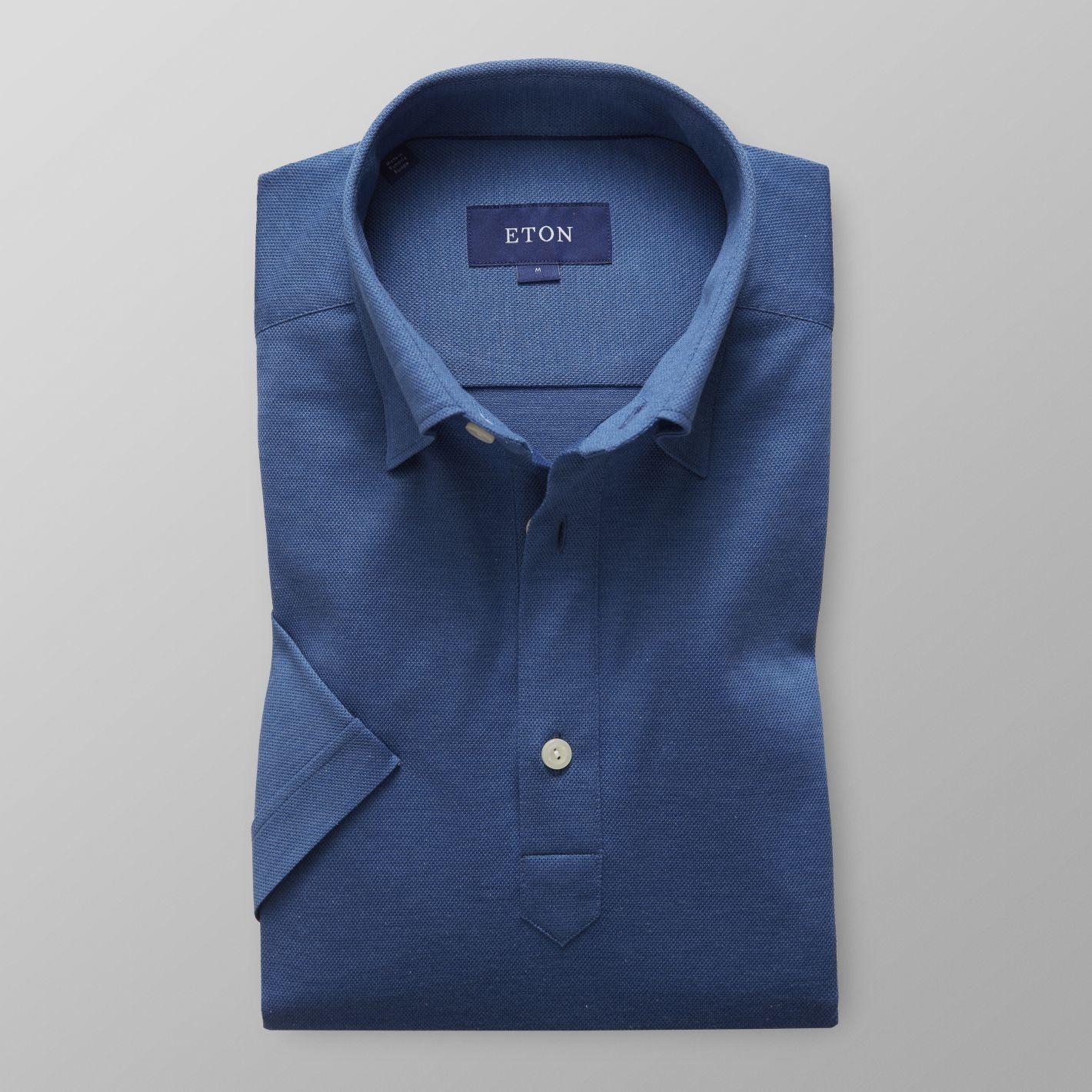 Eton Luxury Pique Button Under Polo Shirt