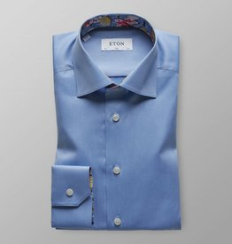 Eton Signature twill with tennis Print trim