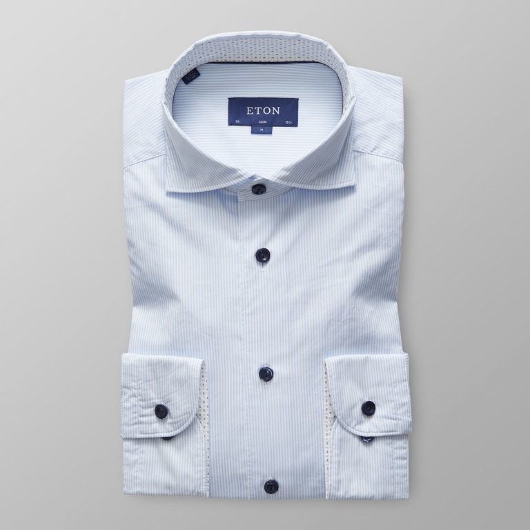Eton Soft Lightweight Twill with trim