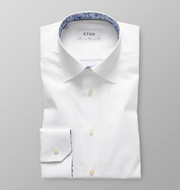 Eton Slim Fit Twill with Dandelion trim