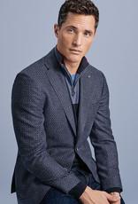 Roy Robson Navy Waffle Weave Wool Jacket