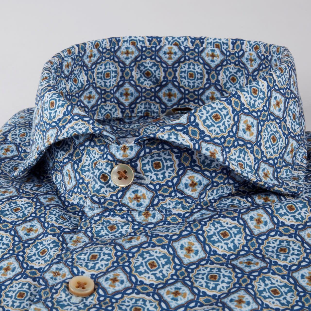 Stenstroms Portugese Tile Print Casual shirt