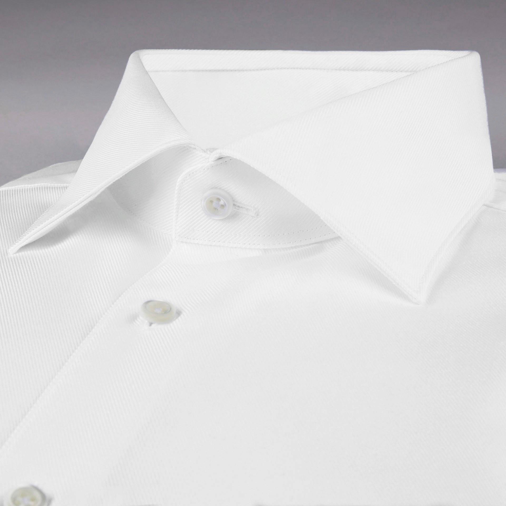 Stenstroms Textured Cotton Shirt - Cut Away Collar