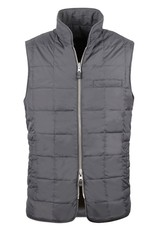 Stenstroms Charcoal quilted Goose Down reversible Gilet