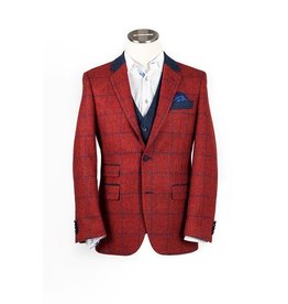 Moon Scarlet Check tweed