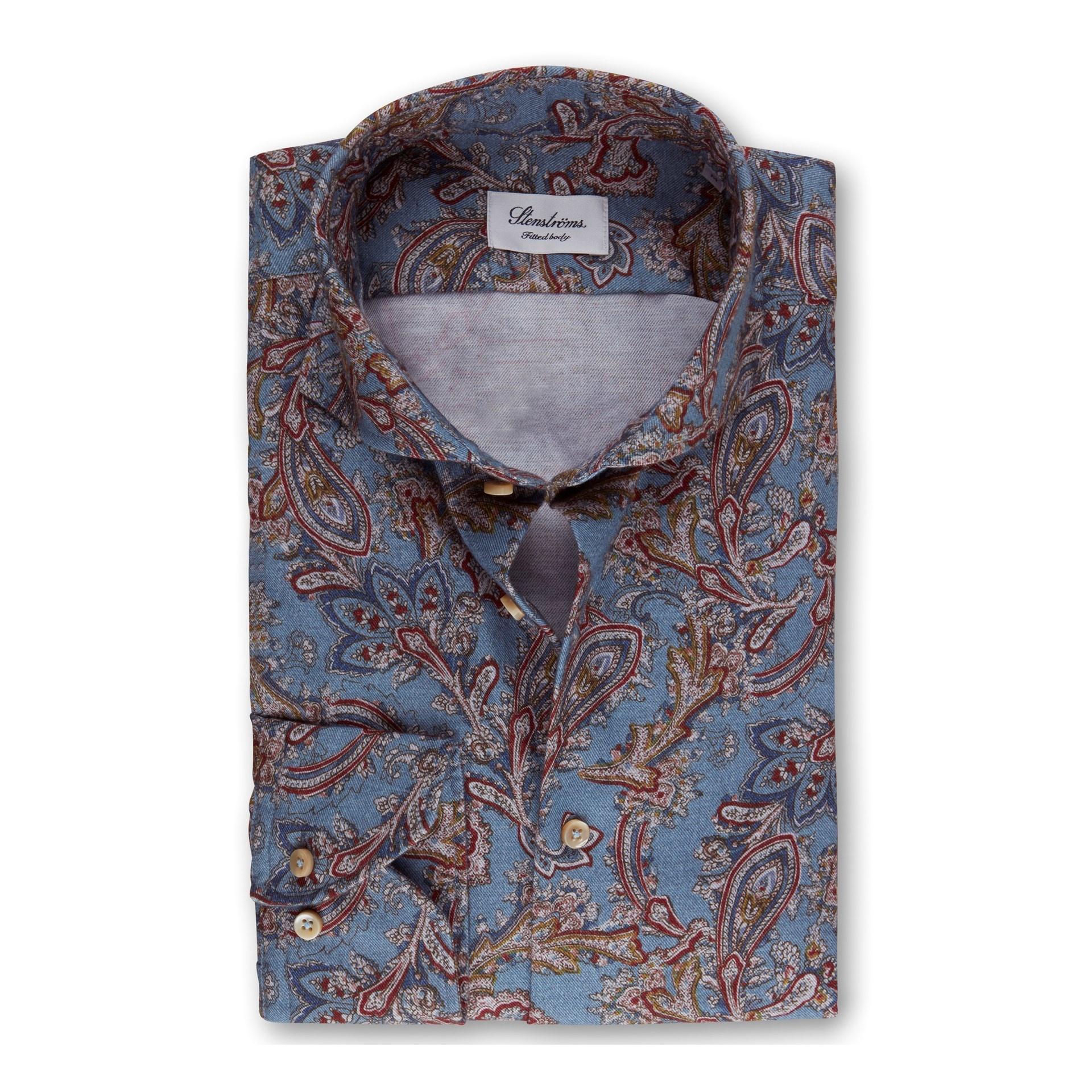 Stenstroms Soft Cotton Casual Paisley Shirt