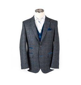 Moon Royal Blue Check Tweed