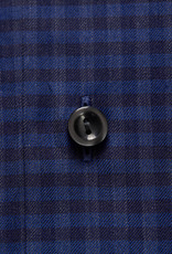 Eton Checked Fine twill with charcoal button